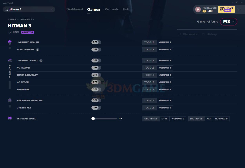 《杀手3》v3.10十项修改器[MrAntiFun][Epic]