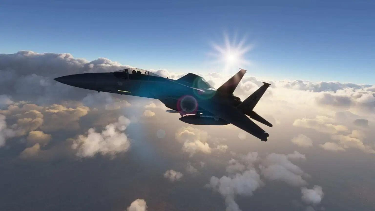 《微软飞行模拟》F-15鹰式战斗机预告片分享