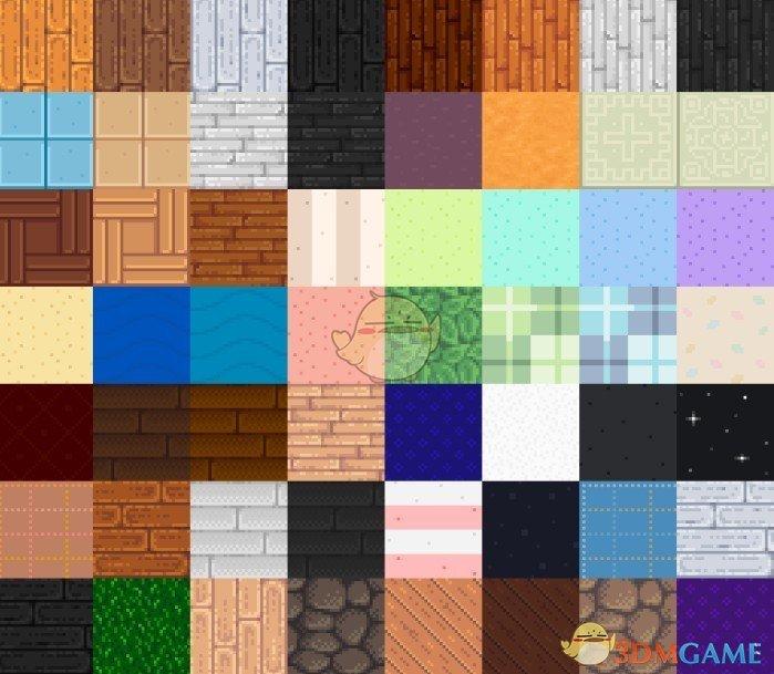 《星露谷物语》Peskit的壁纸和地板包MOD