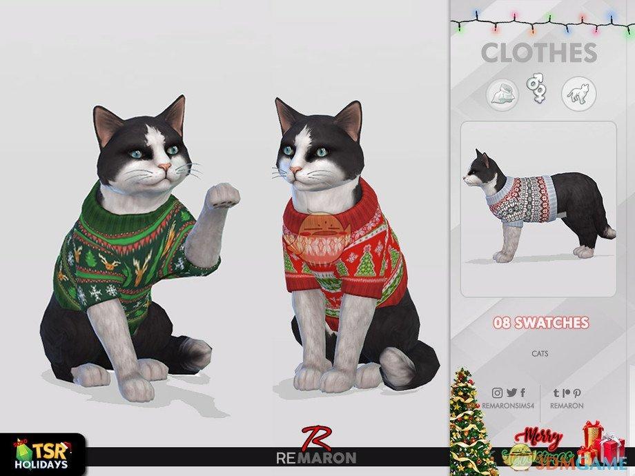 《模拟人生4》猫咪可爱毛衣MOD