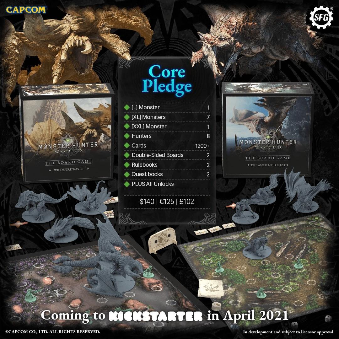 《怪物猎人:世界》桌游4月启动众筹项目