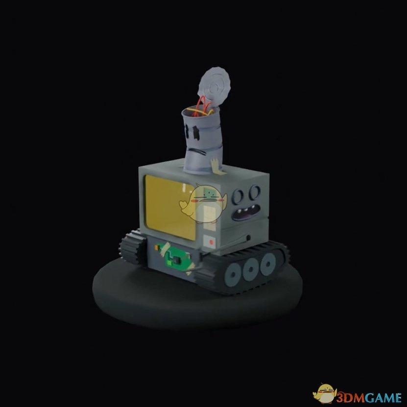《Wallpaper Engine》3D小型机器人旋转展示动态壁纸