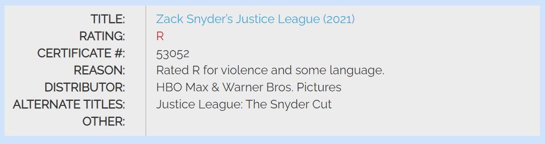 《正义联盟》导剪版评级R级:有脏话和暴力场景