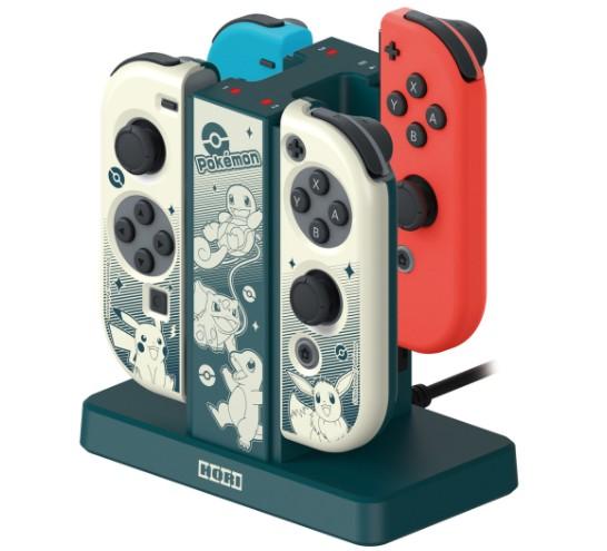 宝可梦黑白风格Switch手柄充电座公开 格调高雅4月发售