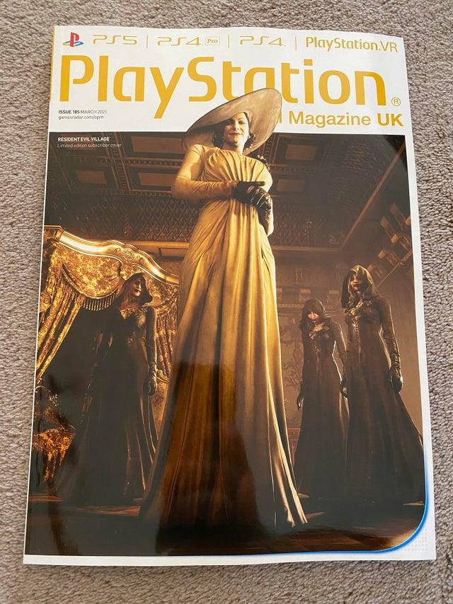 PS杂志新封面 《生化危机8》吸血鬼夫人华贵亮相