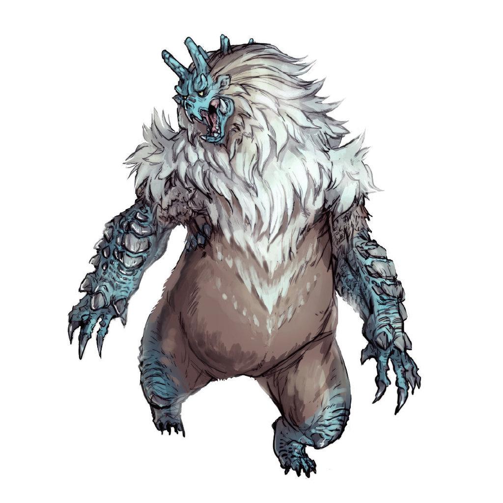 《怪物猎人:崛起》雪鬼兽设计图公开 毛茸茸有点憨