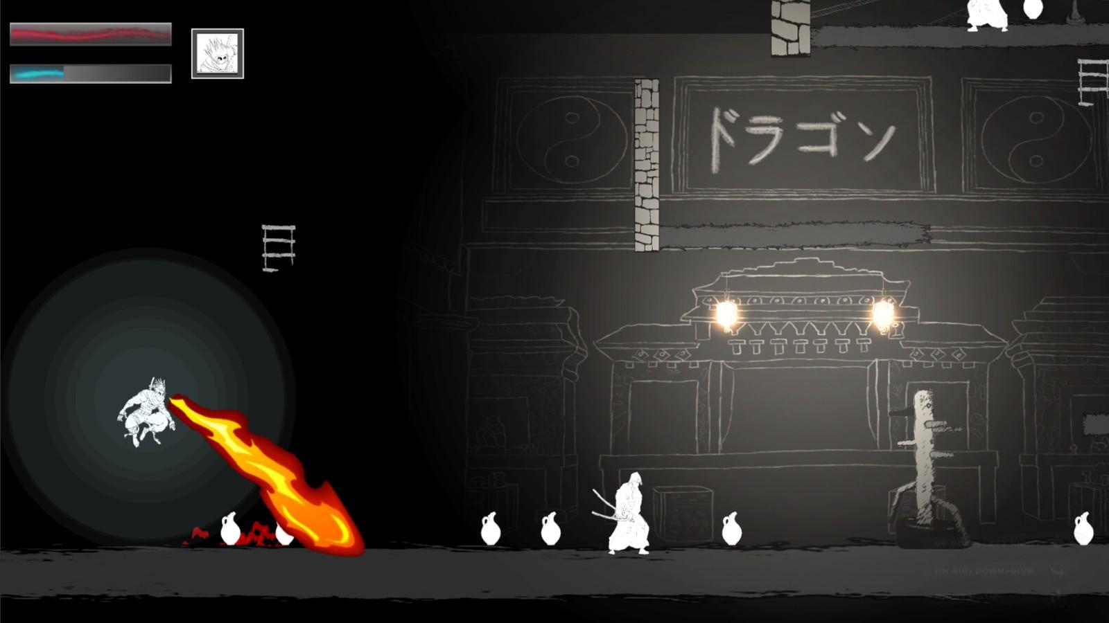 黑白画风忍者动作新游《Negative: The Way of Shinobi》上架Steam