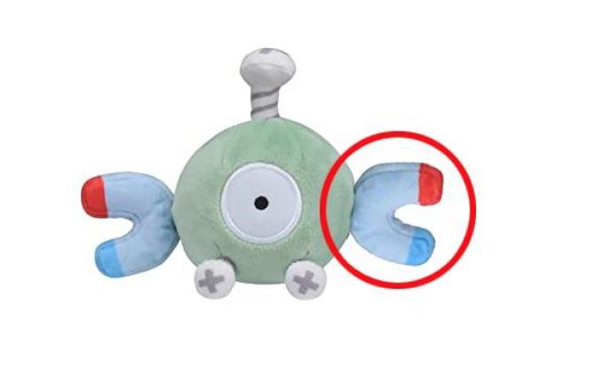 宝可梦公司官方毛绒玩具出错 小磁怪的手装反了
