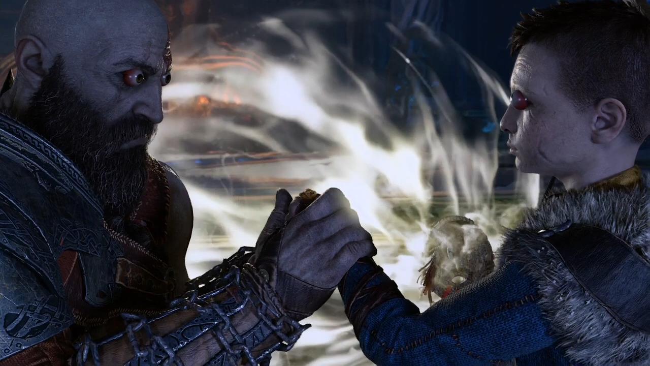 《战神4》打上新奇Mod后 奎爷和儿子成了大眼睛
