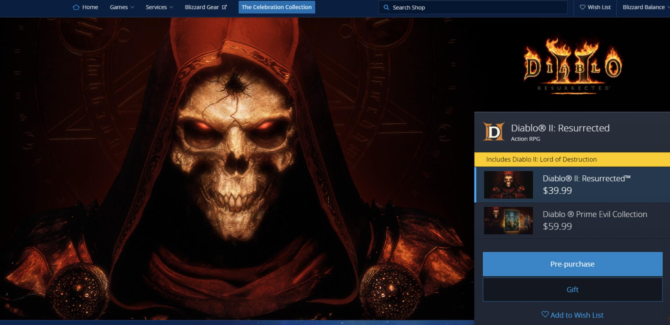 暴雪嘉年华首日汇总:《暗黑破坏神2:重制版》发布