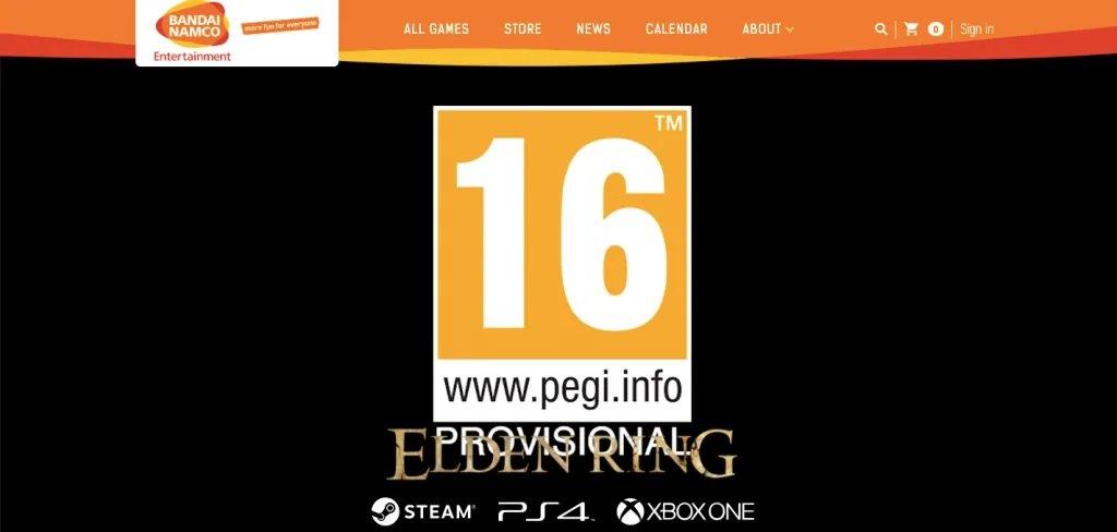 《Elden Ring》官网更新PEGI评级 新预告或将到来