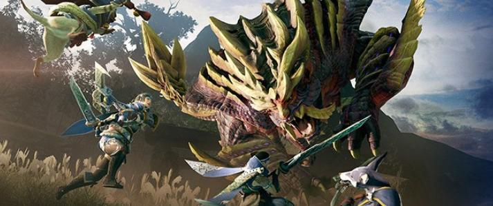 《怪物猎人:崛起》赤甲龙战斗演示 熔岩之地的强者