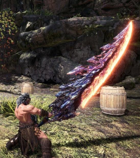 《怪物猎人:世界》斩龙尾巴大剑MOD