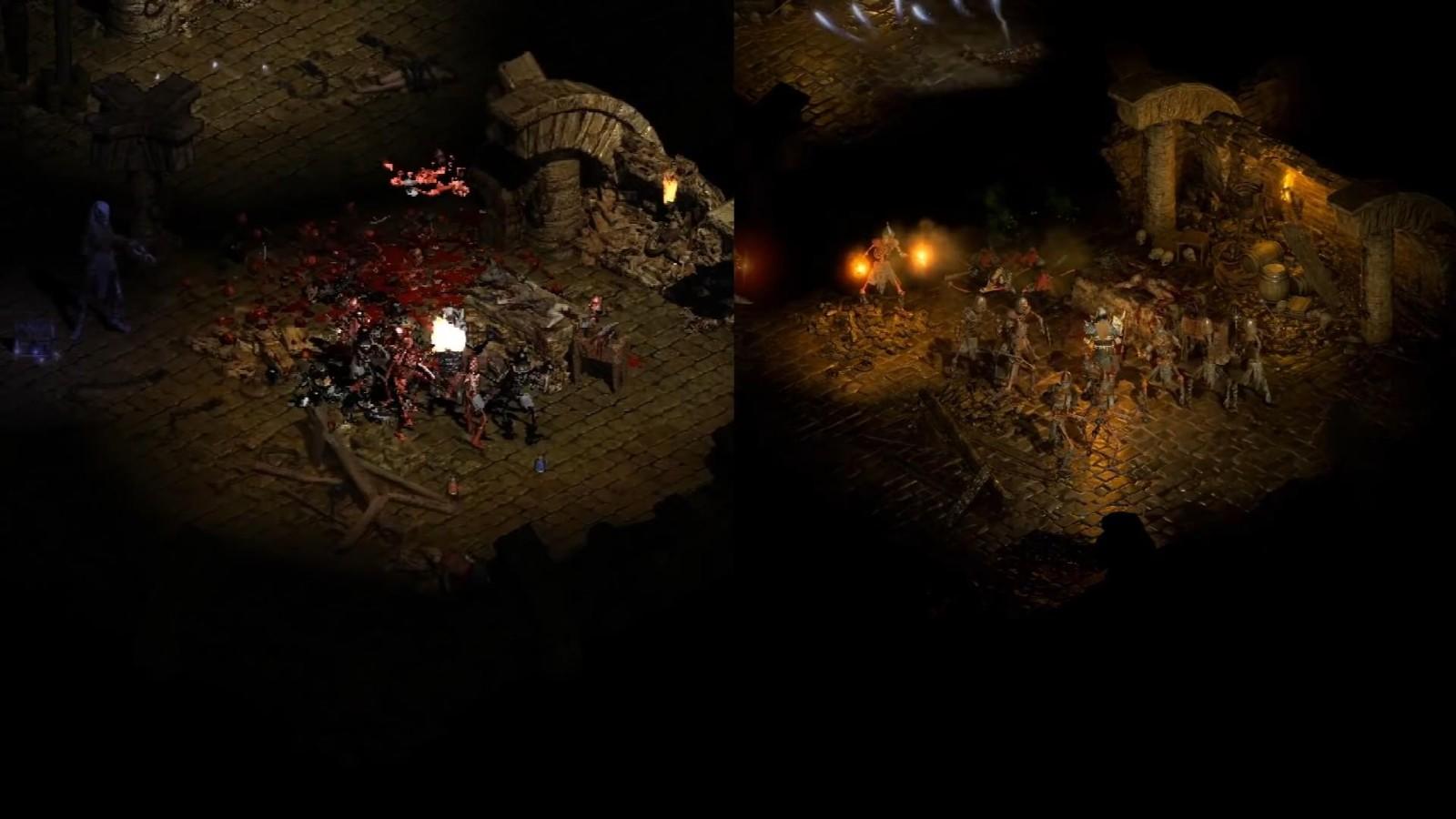 《暗黑破坏神2:重制版》与原版对比视频 冷饭真香
