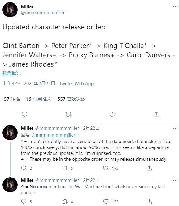 《漫威复仇者联盟》接下来7位角色登场顺序疑似泄露