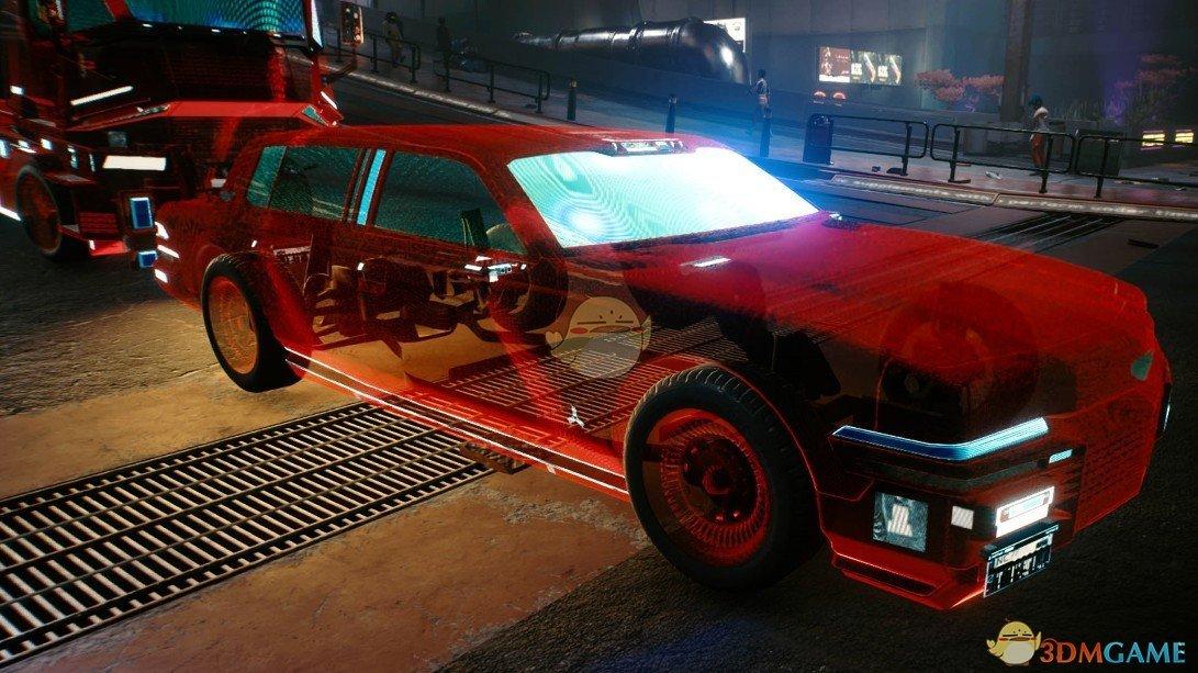 《赛博朋克2077》绚丽全息跑车MOD