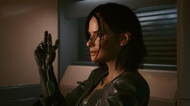《赛博朋克2077》恶灵附身基德曼发型MOD