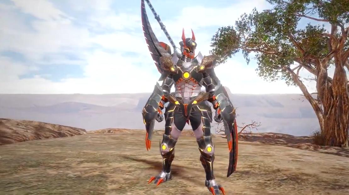 《怪物猎人:崛起》泥翁龙防具展示 战斗暴龙兽?