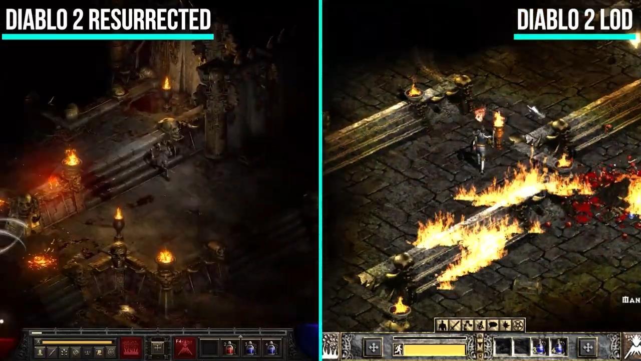 《暗黑2重制版》与原版新对比视频 画质大提升