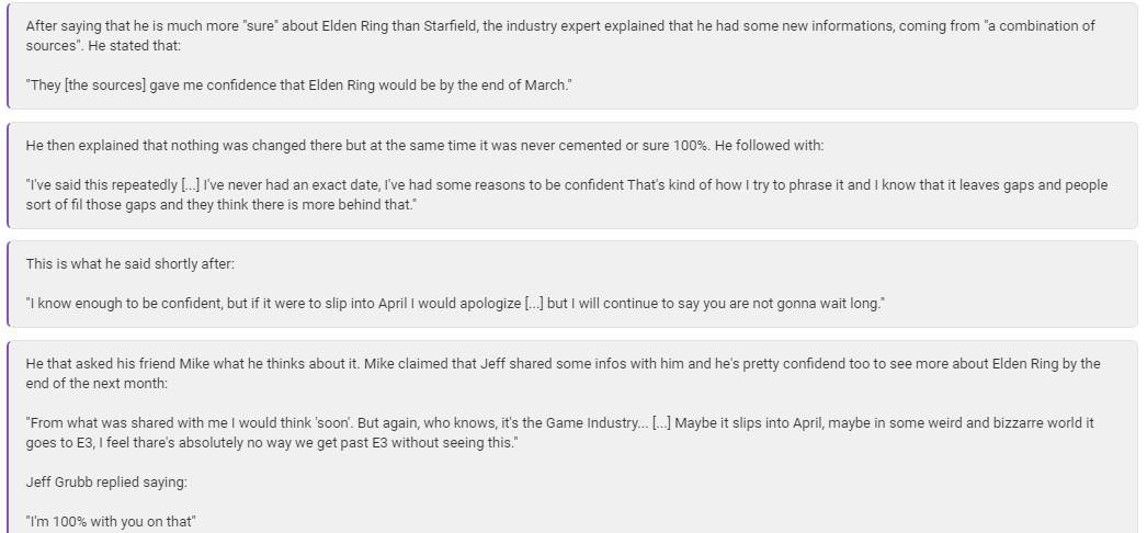 传《Elden Ring》将在3月底公布新消息