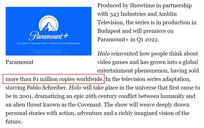 《光环》系列全球销量超8100万套