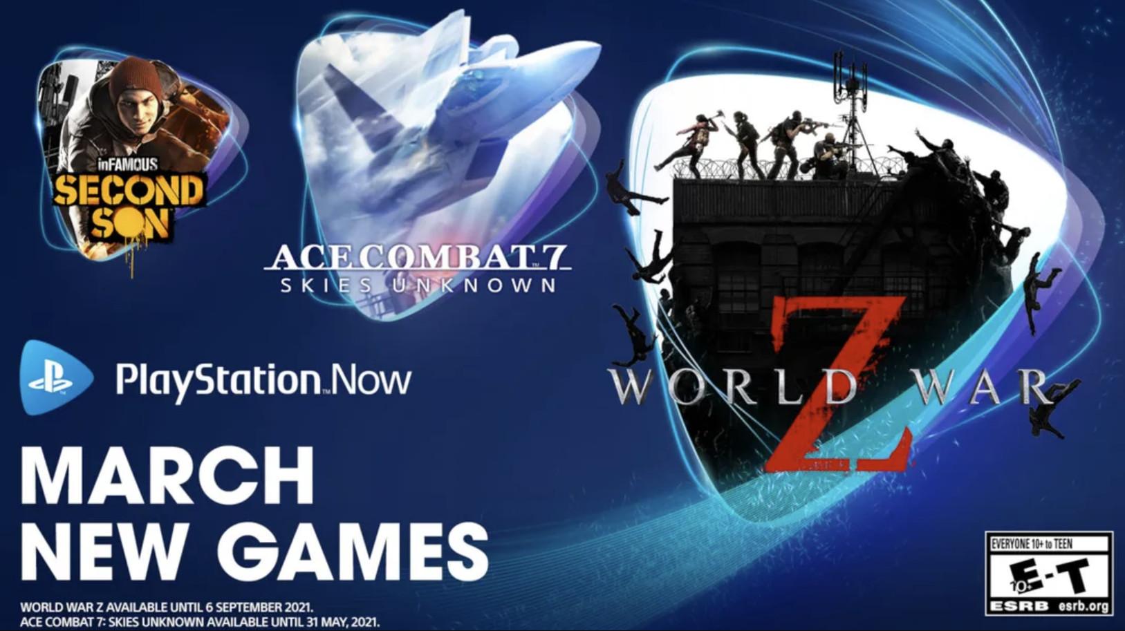 PS Now 3月游戏公布 《皇牌空战7》加入
