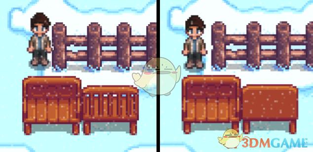 《星露谷物语》更好的红木长凳MOD