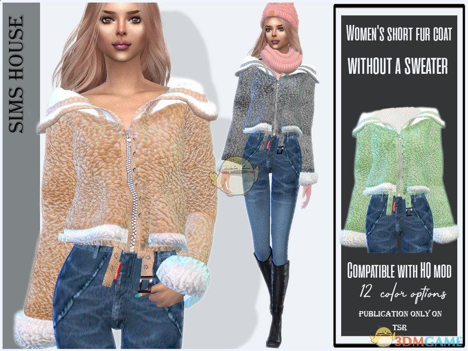 《模拟人生4》女性时尚毛皮上衣MOD