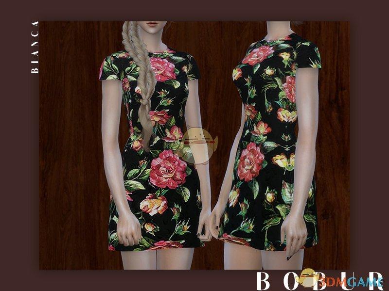 《模拟人生4》美丽彩色印花女性连衣裙MOD