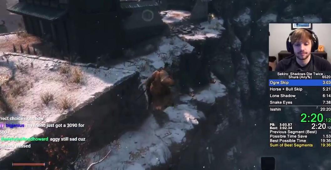 《只狼:影逝二度》Any%速通新世界纪录诞生 奇迹提升3秒