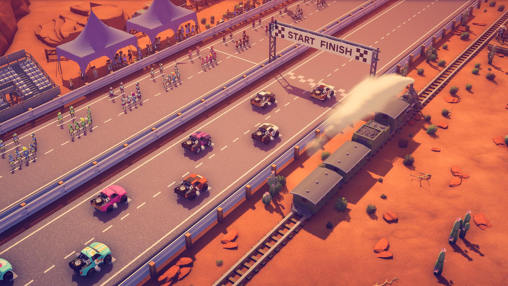 俯视角赛车游戏《环道巨星》发售 Steam特别好评