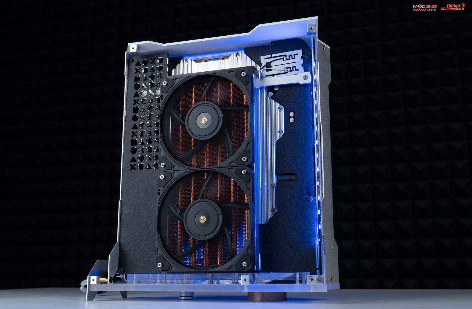 越南PC硬件改装师打造了一个水冷版PS5 并表示很快会售卖