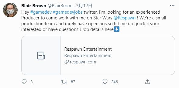重生娱乐招聘制作人 疑似开发《星战绝地》的续作