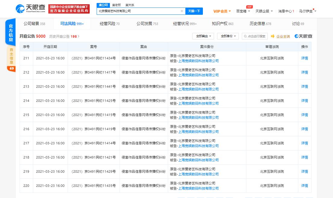 爱奇艺正式告状B站 称B站损害作品信息收集传布