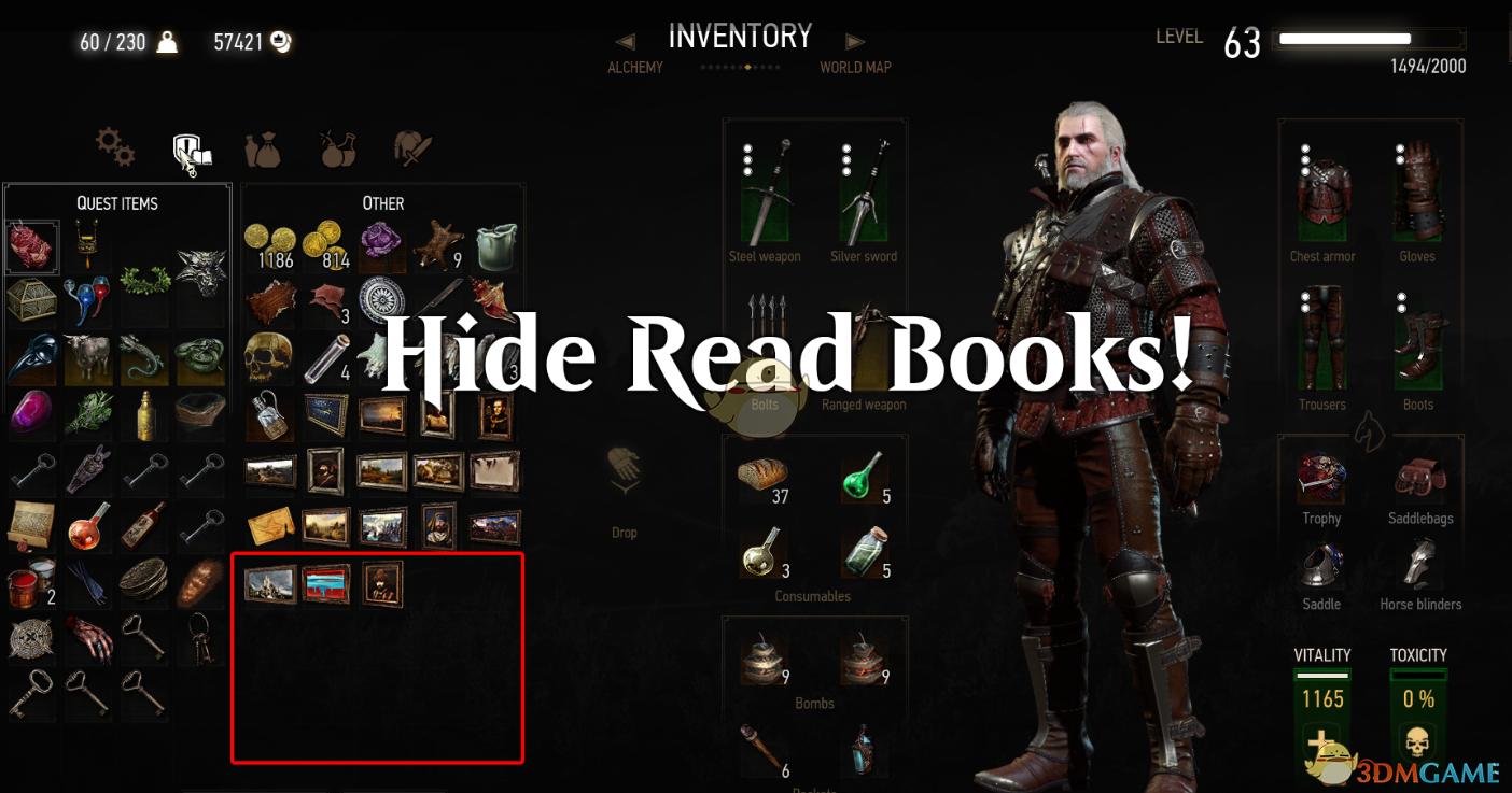 《巫师3:狂猎》隐藏阅读的书籍MOD