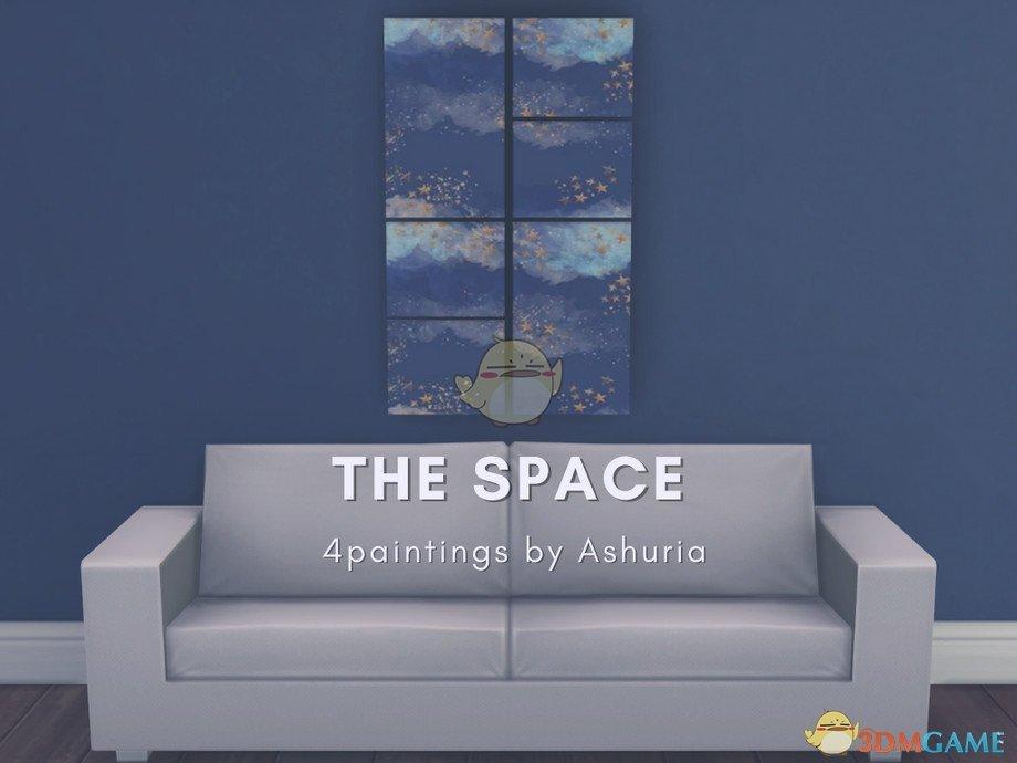 《模拟人生4》美丽的太空主题绘画MOD