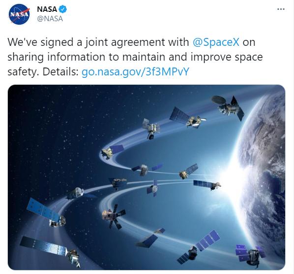 马斯克星链卫星太多频惹祸 NASA与其签下安全协议