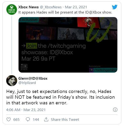 《哈迪斯》本周不会出现在Xbox独立游戏展示节目上