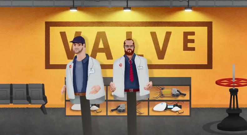 油管频道分享滑稽影像《V社之歌》 吐槽G胖不数三