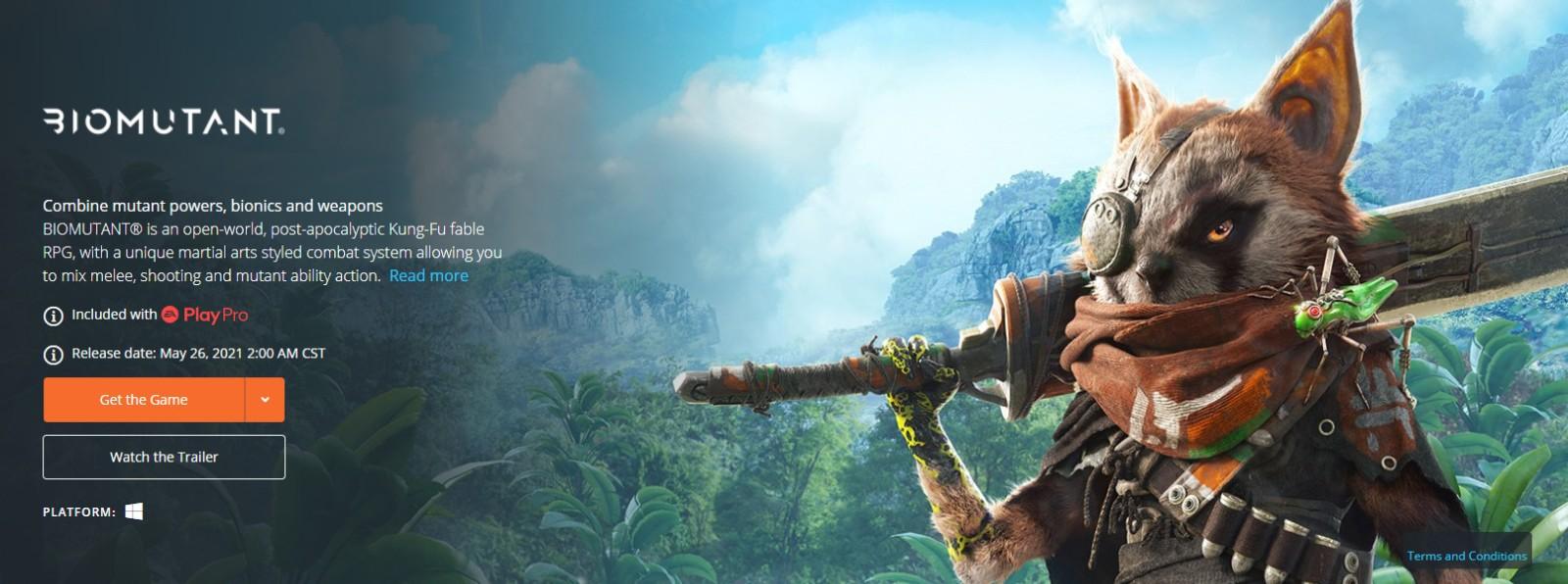 《生化变种》首发时还将登陆EA Play Pro