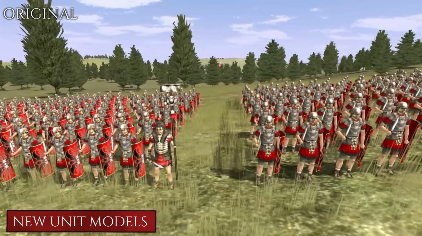 《全面战争:罗马》重制版与原版对比:建模贴图UI全面加强