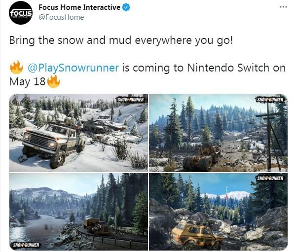 畅销越野游戏《雪地奔驰》5月18日登陆Switch 多种载具乐趣多