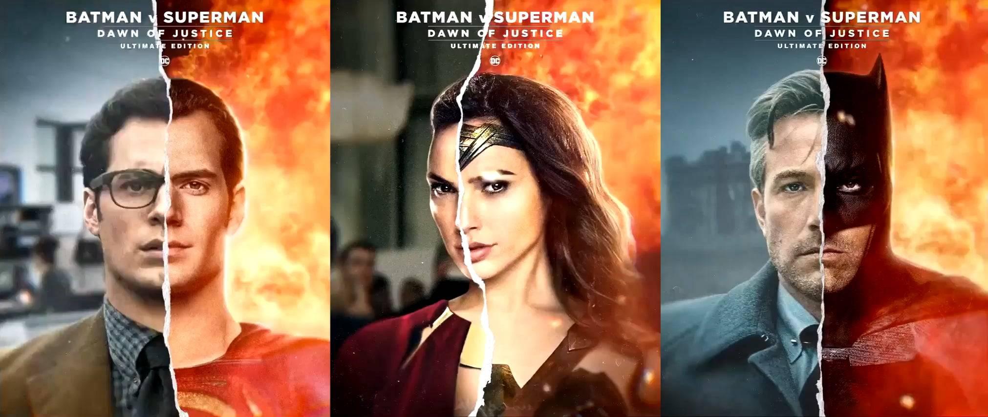 《蝙蝠侠大战超人》重制版新动态角色海报 画幅画质加强