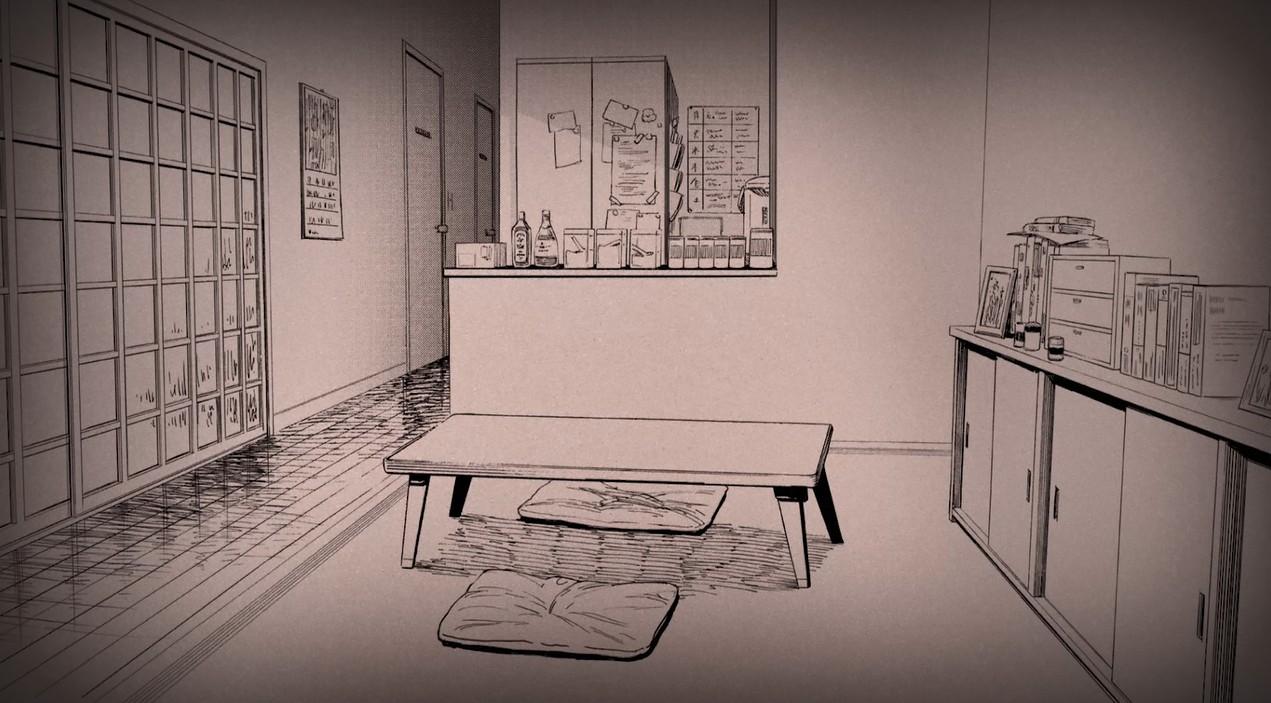 《Wallpaper Engine》电锯人黑白漫画风电次的小屋动态壁纸