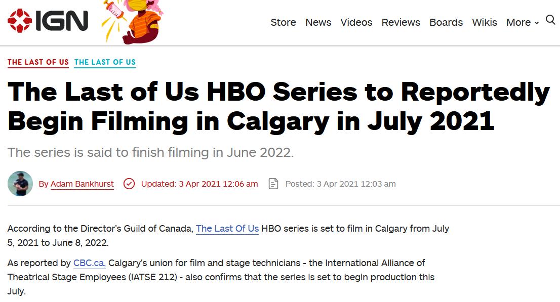 《最后的生还者》电视剧7月开拍 预计2022年6月