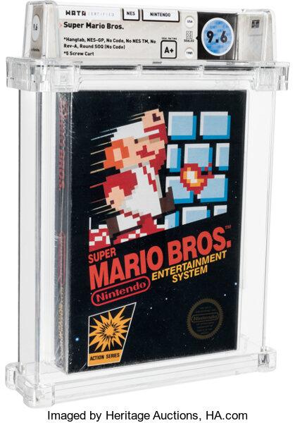 66萬美元!《超級馬里奧兄弟》NES卡帶拍賣創紀錄