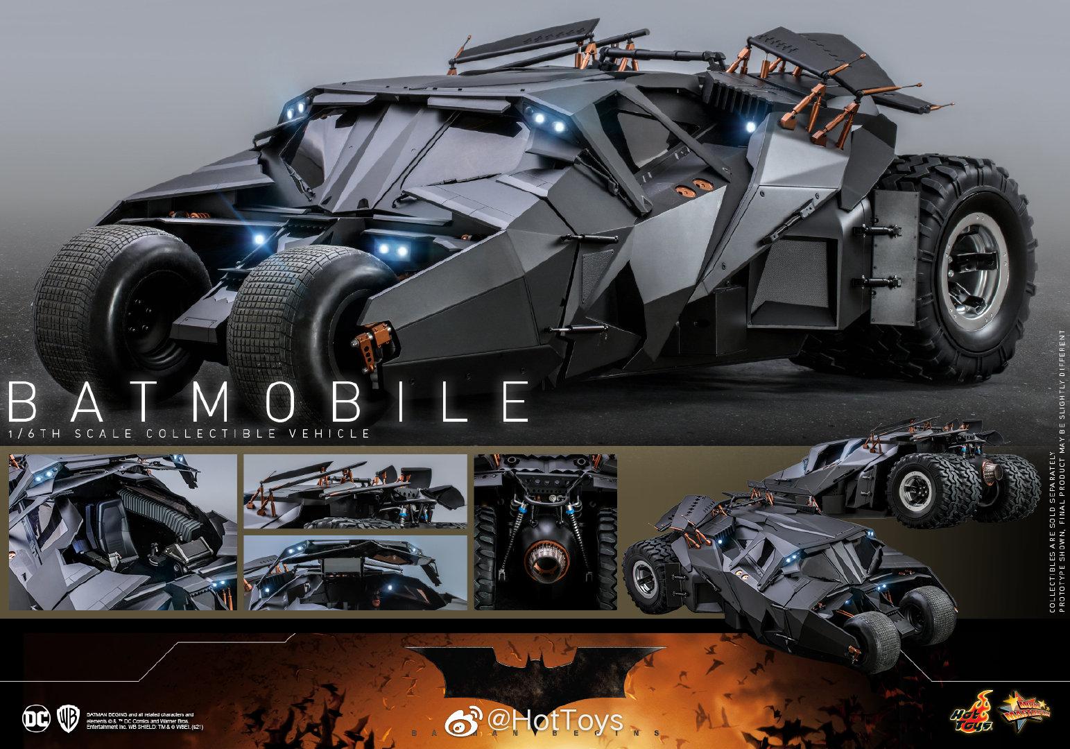 Hottoys诺兰版蝙蝠车1/6模型 售价3980元