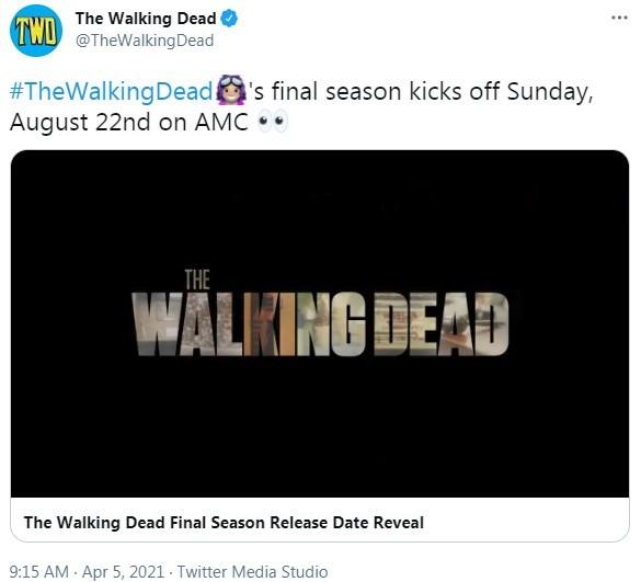 《行尸走肉》最终第11季确定8月22日开播 总计24集