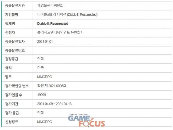 韩媒透露《暗黑破坏神2:重制版》将于4月9日开启测试