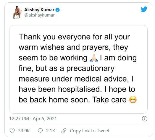 印度影星阿克谢确诊新冠 曾吹嘘每天喝牛尿防疫